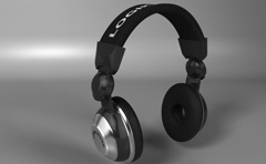 3d model of a pair of headphones created for an advert.