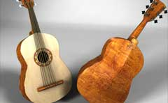 3d models of instruments created for a television commercial.